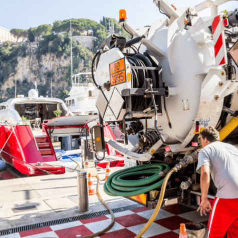 travaux petroliers pompage yacht - Algora environnement